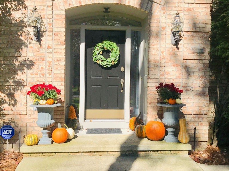 Our front door during the Fall.
