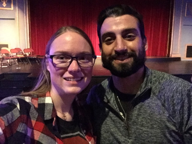 Date night to an improv show