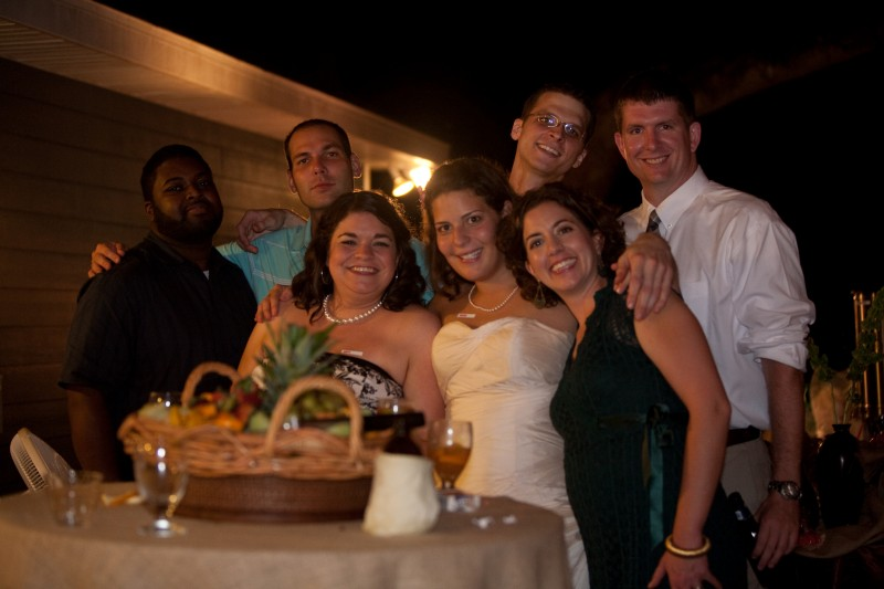 Our best friends at our wedding