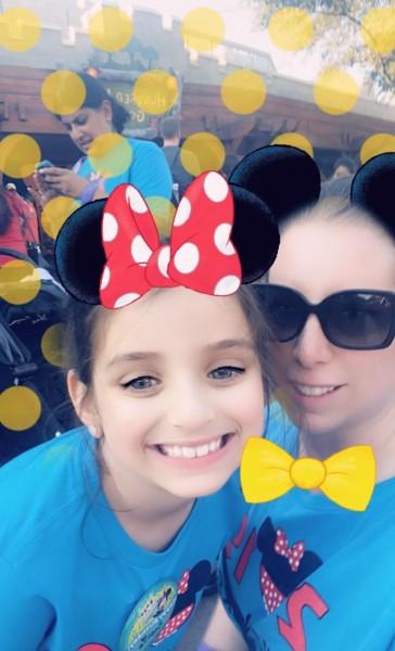 With my niece