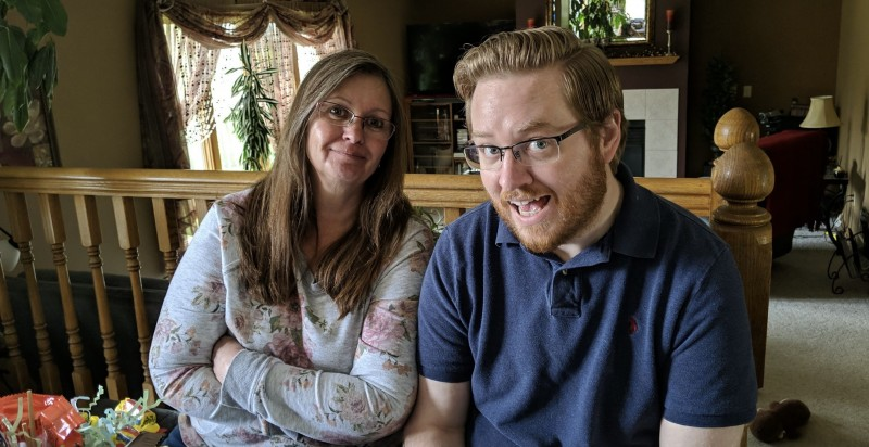 Dan and his Mom Renee hanging out at a family event