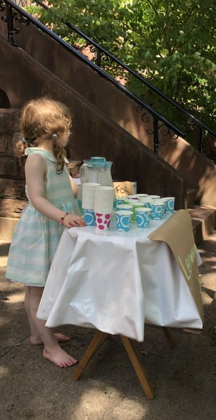 Lemonade Stand and Stoop Sale, Dear Friend's Daughter