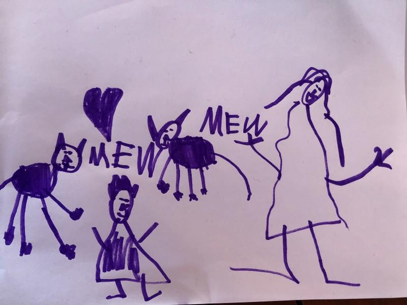 Dear Friend's Daughters Lisa Drawings