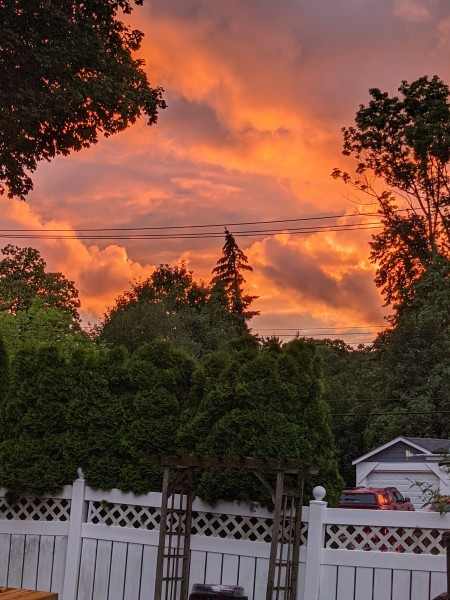 An amazing sunset from out porch