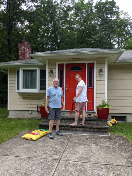 A visit to upstate NY to help Tom's parent's with some projects around their home!  A fresh coat of paint and some new plants!