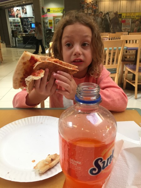 my niece and my favorite food