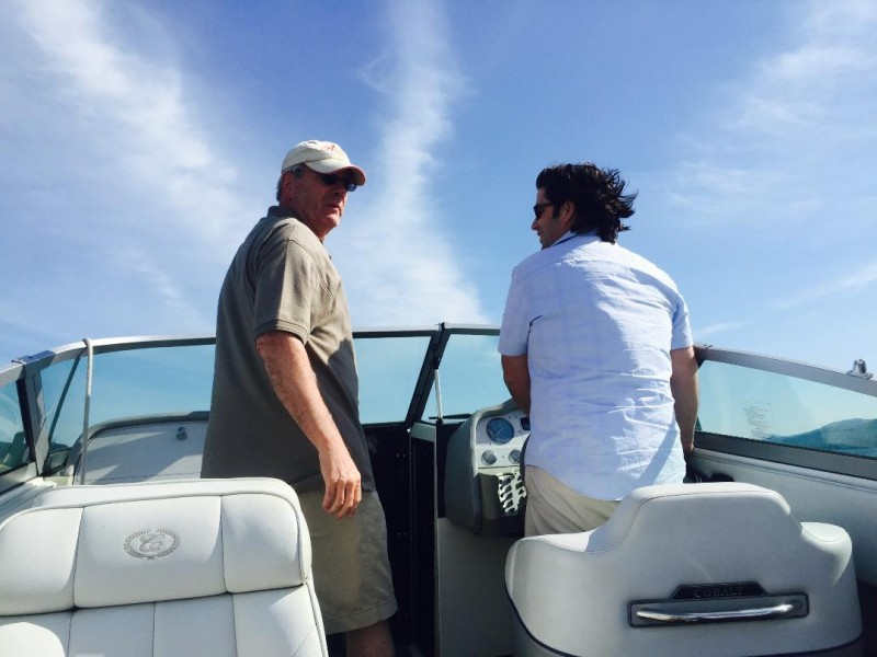 Mike and dad on the boat
