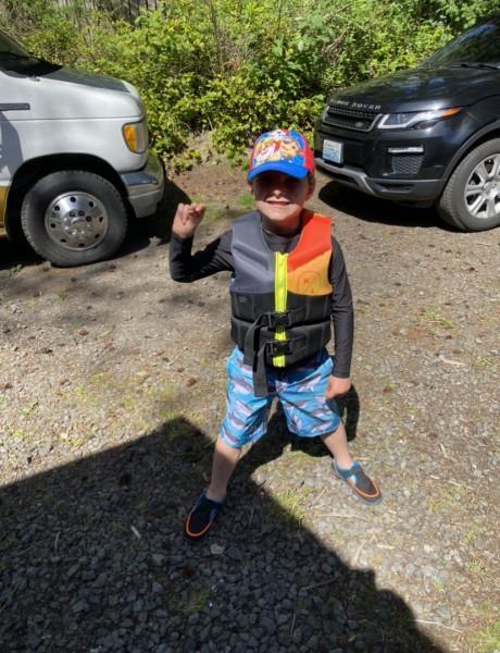 Ready to kayak!