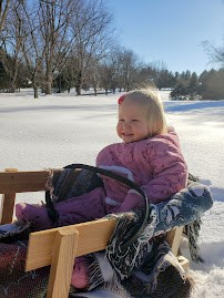 Ana's first sled ride