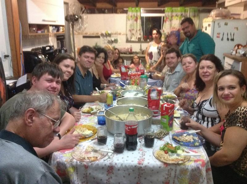 Dinner with Ewerton's family in Brazil