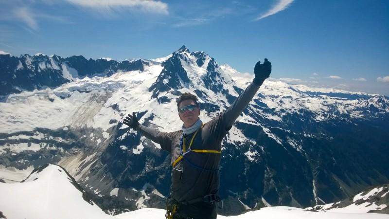 Ewerton climbing Mount Baker, in Washington state