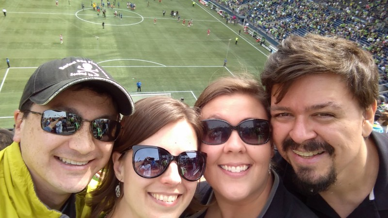 Soccer game with our friends