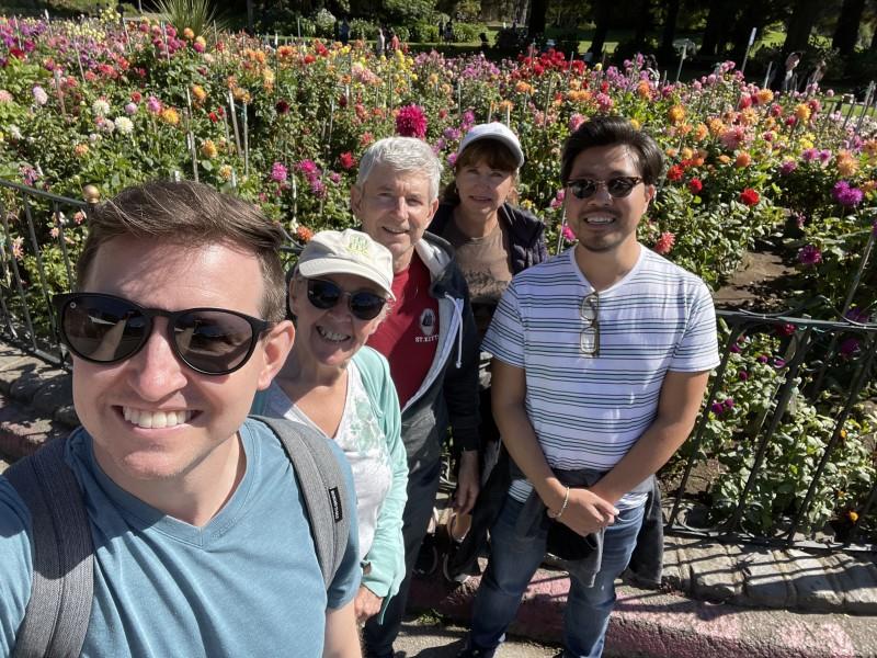 Dan's parents and aunt in Golden Gate Park