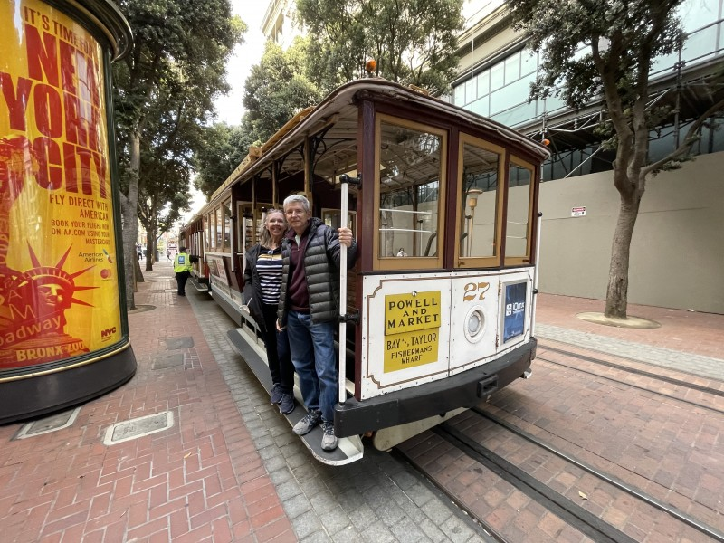 Dan's parents on the SF Cable Car