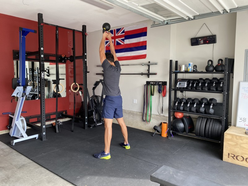 Aaron works out in the gym in our garage nearly every day. Christian does her barre3 classes in there too.