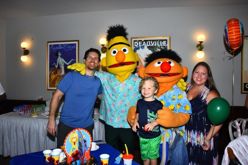Partying with Sesame Street