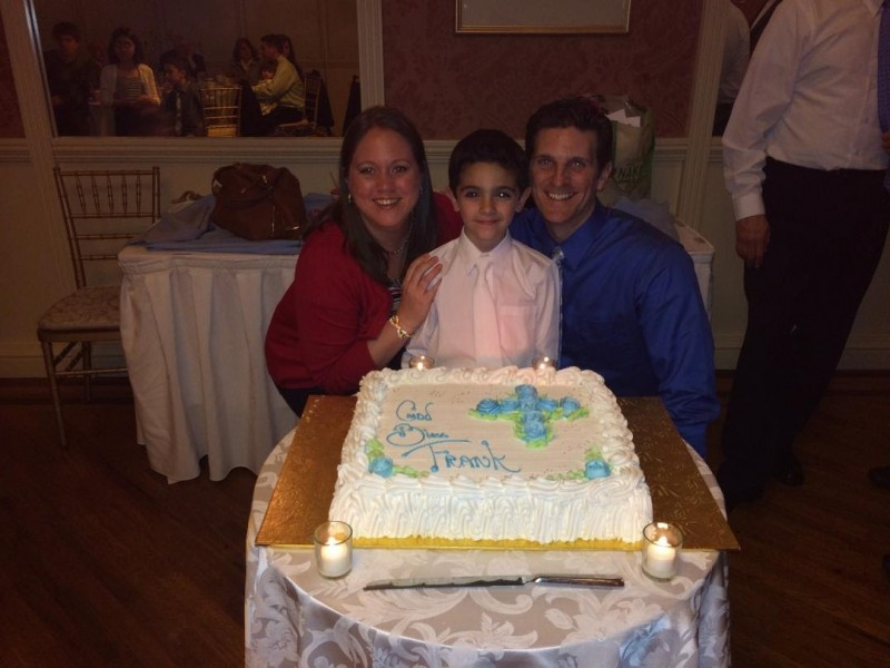 Celebrating our nephew's communion