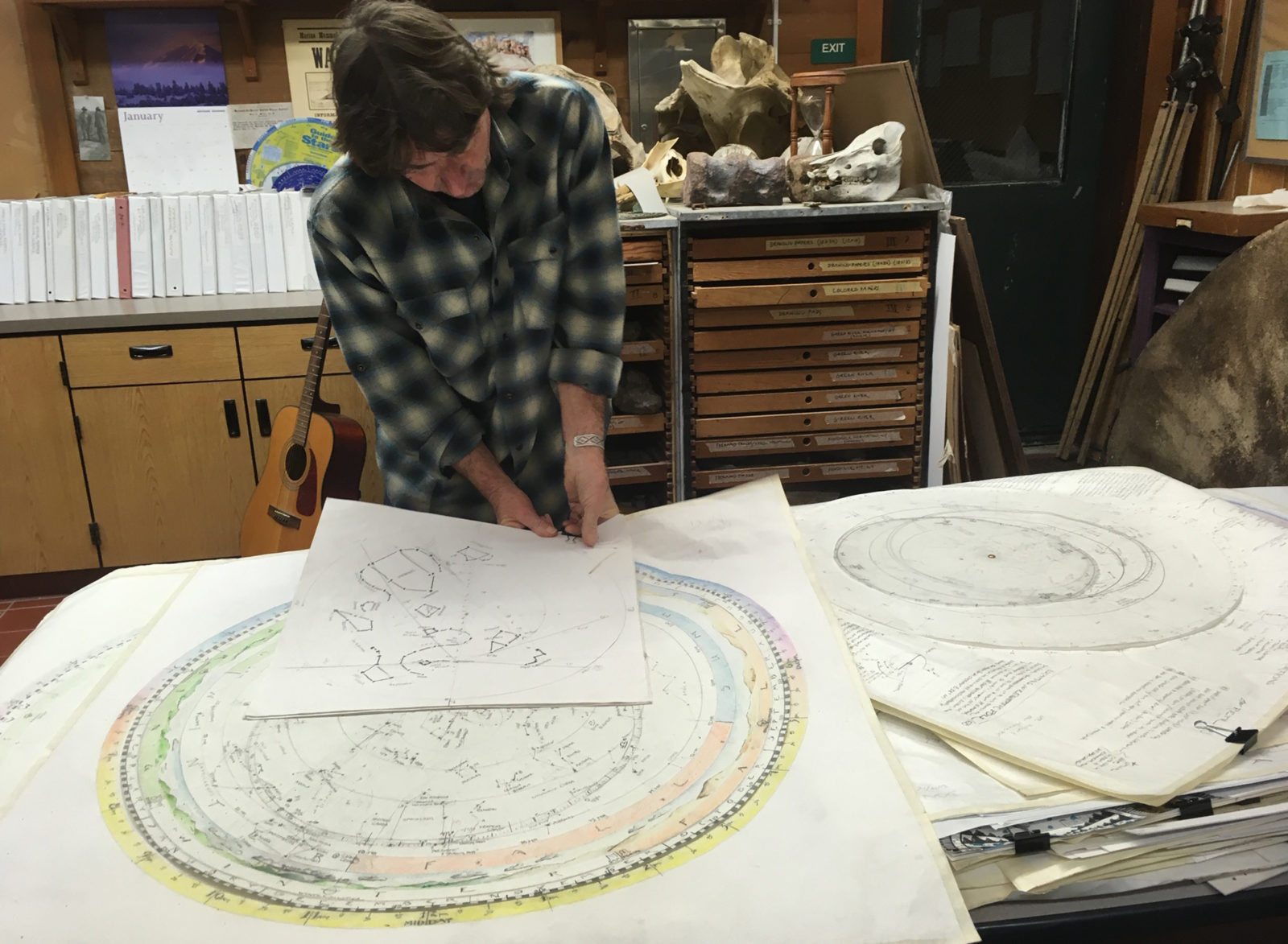 CONTEMPLATING THE NIGHT:  - Don Jolley's Astrolabe Students with Astrophotography by Marsha Kirschbaum and Artwork by Bolinas - Stinson School Students