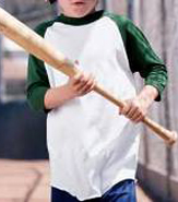 AUGUSTA YOUTH RAGLAN SLEEVE BASEBALL JERSEY