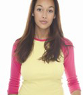 AMERICAN APPAREL LADIES 3/4 RAGLAN SLEEVE