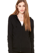 BELLA FLEECE RAGLAN HOODED SWEATSHIRT