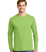 HANES TAGLESS T LONG SLEEVE