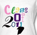 CLASS OF 2011 COLORFUL t-shirt design idea