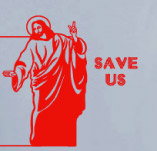 JESUS SAVE US t-shirt design idea