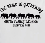 THE HERD IS GATHERING t-shirt design idea