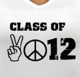 CLASS OF 2012 PEACE SIGNS t-shirt design idea