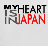 MY HEART IS IN JAPAN t-shirt design idea