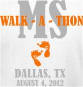 WALK - A -THON t-shirt design idea