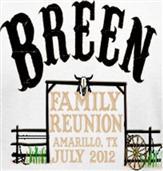 BREEN REUNION t-shirt design idea