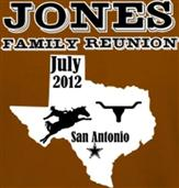 JONES TEXAS REUNION t-shirt design idea