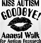 KISS AUTISM GOODBYE t-shirt design idea