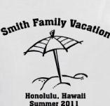 HAWAII FAMILY VACATION t-shirt design idea