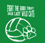 FIGHT THE GOOD FIGHT VOLLEYBALL t-shirt design idea