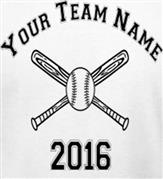 BATTERS UP! YOUR BASEBALL OR SOFTBALL TEAM t-shirt design idea