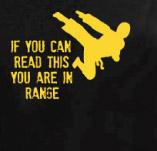 IN RANGE t-shirt design idea
