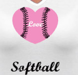 LOVE, SOFTBALL t-shirt design idea