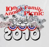10TH ANNUAL FAMILY PICNIC t-shirt design idea
