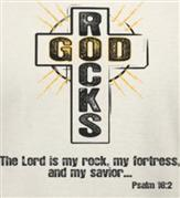 GOD ROCKS t-shirt design idea