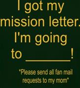 MISSION LETTER t-shirt design idea