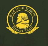HIGH SCHOOL DEBATE TEAM t-shirt design idea