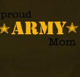 PROUD ARMY MOM t-shirt design idea