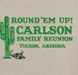 ROUND 'EM UP FAMILY REUNION t-shirt design idea