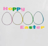 HAPPY EASTER COLORFULL EGGS t-shirt design idea