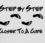 STEP BY STEP CLOSER TO A CURE t-shirt design idea