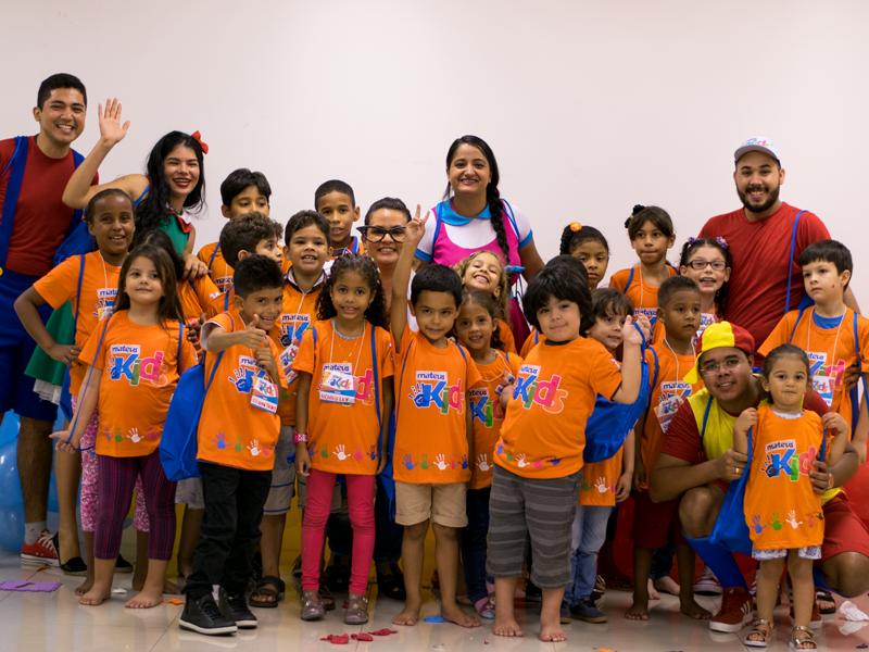 Mateus Kids promove atividades com filhos de colaboradores