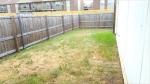 backside fenced yard